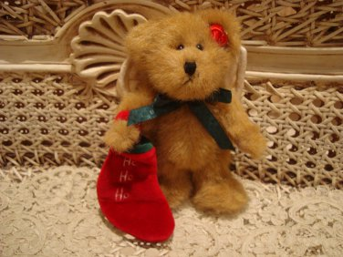 "BOYDS 2001 QVC EXCLUSIVE SOCKSLEY 6"" CHRISTMAS ANGEL BEAR **NEW**"