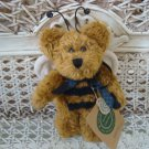 """BOYDS BUD BUZZBY 5"""" TALL RETIRED ANGEL BEE BEAR ORNAMENT ***NEW STORE STOCK**"""