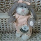 "BOYDS MIPSIE BLUMENSHINE 6"" RETIRED BUNNY IN PEACH ROMPER  ***NEW STORE STOCK**"