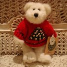 "BOYDS LARS 8"" RETIRED BEAR IN CHRISTMAS TREE SEQUIN SWEATER *NEW STORE STOCK*"