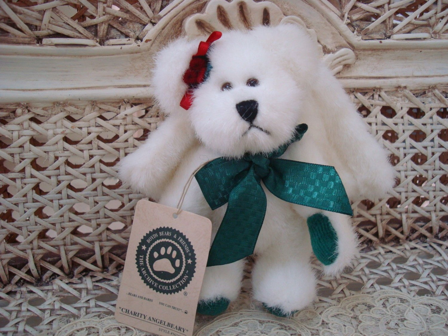 """BOYDS CHARITY ANGELBEARY 5 1/2"""" ANGEL BEAR ORNAMENT *NEW STORE STOCK*"""