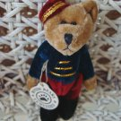 "BOYDS TIMOTHY F WUZZIE 3"" TALL BELLHOP BEAR RETIRED **NEW STORE STOCK***"