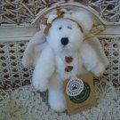 BOYDS CASSIE GOODNIGHT WHITE & GOLD RETIRED ANGEL BEAR ORNAMENT *NEW STORE STOCK