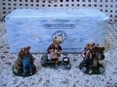 BOYDS EDMUND'S HIDEAWAY VILLAGE FIGURINES *NEW STORE STOCK**