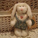 "BOYDS FERN BLUMENSHINE 6"" BUNNY IN FLORAL ROMPER ***NEW STORE STOCK**"