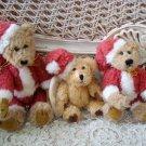 BOYDS SET OF 3 CHRISTMAS SANTA BEARS ***SO CUTE*** NEW NO TAGS