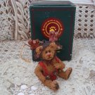 BOYDS WOLFGANG CHRISTMAS BEAR ORNAMENT  **NEW STORE STOCK**
