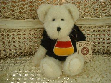 "BOYDS CC BOOBEAR 10"" TALL HALLOWEEN BEAR CANDY CORN SHIRT *NEW STORE STOCK*"