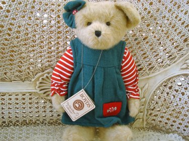 """BOYDS SPEARA MINTLY 14"""" TALL PEPPERMINT CANDY CHRISTMAS BEAR  *NEW STORE STOCK*"""