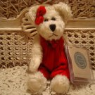 "BOYDS ERIN K. BEAR 8"" RETIRED BEAR RED VELVET JUMPER CHRISTMAS *NEW STORE STOCK"