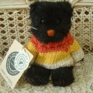 BOYDS MIDNIGHT SNEAKYPUSS BLACK CAT RETIRED HALLOWEEN **NEW STORE STOCK**