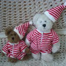 ADORABLE RED & WHITE STRIPED PAJAMAS & HAT OUTFIT FOR BOYD'S BEARS ***SO CUTE***