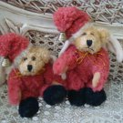 "BOYDS QVC EXCLUSIVE 5 1/2"" TALL ADORABLE CHRISTMAS SANTA ANGEL BEAR ORNAMENTS"