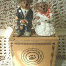 BOYDS GRENVILE & BEATRICE BRIDE & GROOM SALT & PEPPER SHAKERS *NEW STORE STOCK*