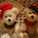 """BOYDS QVC 2002 EXCLUSIVE HOLLIE & IVY ADORABLE 6"""" CHRISTMAS BEARS *NEW*"""