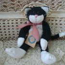"BOYDS ALLIE FUZZBUCKET 9"" BABY BOYDS BLACK & WHITE CAT ***NEW STORE STOCK**"