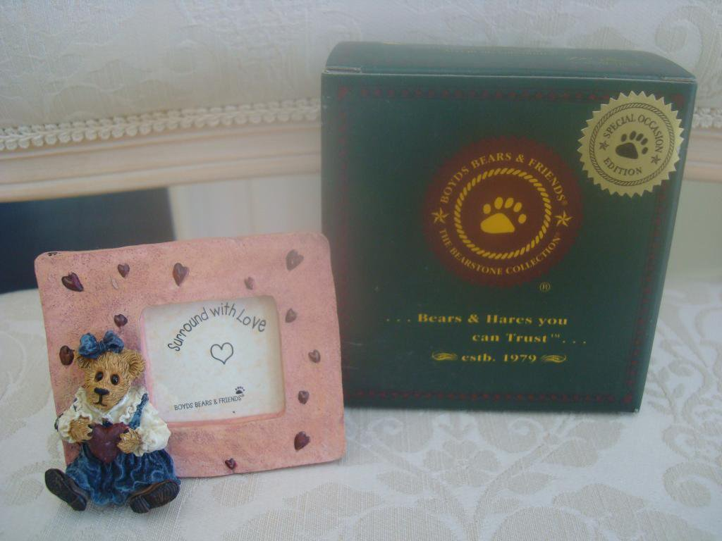 BOYDS JULIET BEARLOVE VALENTINE MINI PICTURE FRAME ***NEW STORE STOCK**