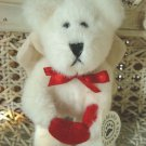 BOYDS WHITE ANGEL BEAR ORNAMENT WITH HEART  VALENTINE'S DAY ***NEW STORE STOCK**