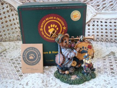BOYDS JONATHAN C TOOTSENWHISTLE ONE MAN BAND BEARSTONE *NEW IN BOX* RETIRED