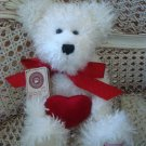 "BOYDS O HOWIE LUVSYA 12"" VALENTINE BEAR WITH RED HEART *NEW STORE STOCK*"