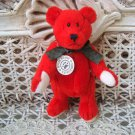 "BOYDS T FRAMPTON WUZZIE 5"" RED MINI BEAR CHRISTMAS RETIRED *NEW STORE STOCK*"