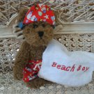 ADORABLE BEACH BOY OUTFIT WITH TOWEL FOR BOYD'S BEARS ****SO CUTE****