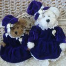 ADORABLE PURPLE PARTY DRESS & HAT OUTFIT FOR BOYD'S BEARS ***SO CUTE***