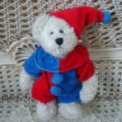 ADORABLE RED & BLUE CLOWN OUTFIT & HAT FOR BOYD'S BEARS ****SO CUTE****