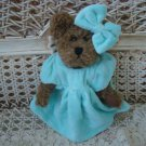 ADORABLE AQUA DRESS OUTFIT & BOW FOR BOYD'S BEARS ****SO CUTE****