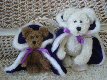 ADORABLE PURPLE ROYAL KING'S CAPE OUTFIT FOR BOYD'S BEARS ****SO CUTE****