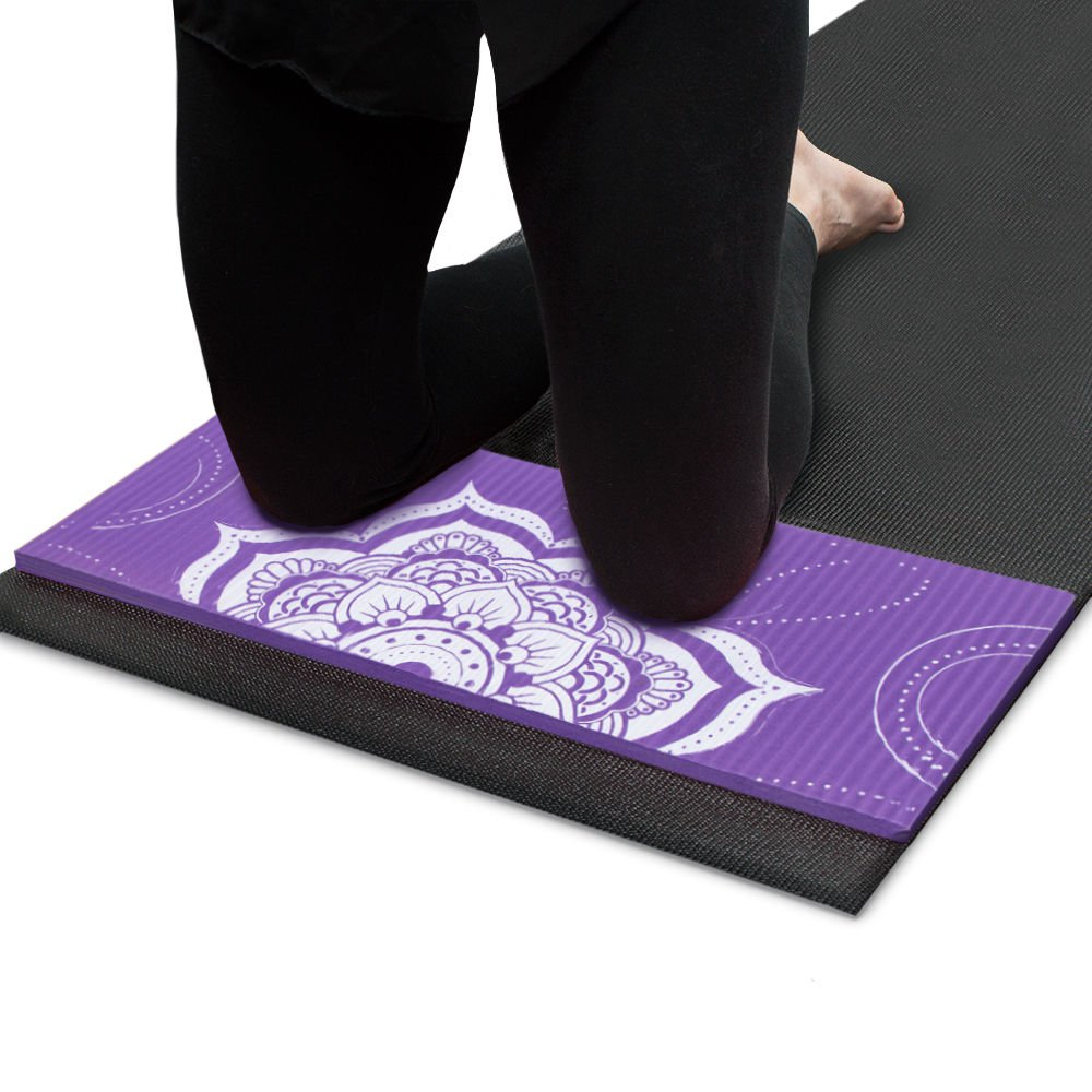 Crown Sporting Goods Chakra Art Yoga Knee Pad Lilac