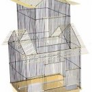 "Prevue Hendryx Beijing Bird Cage Yellow 6"" W x 14"" D x 32"" H 2 Perches/Feeders"