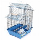 "Prevue Hendryx House Style Bird Cage Blue 16 1/4"" L x 14 1/4"" W x 24"" H 2 Perch"