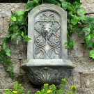 Sunnydaze Decorative Lion Solar Only Wall Fountain - French Limestone