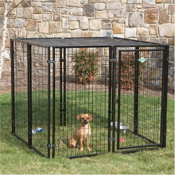Fence Master Cottageview Dog Kennel Outdoor 5' W x 5' D x 4' H