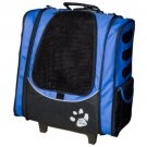 Pet Gear I-GO2 Escort Pet Carrier Ocean Blue Backpack Tote Rolling Cart