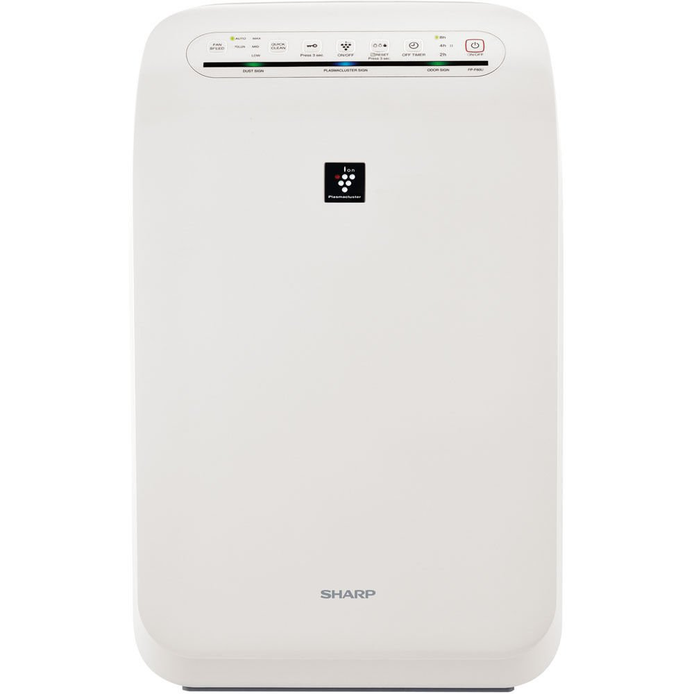 Sharp FP-F60UW Air Purifier w/HEPA Filter 3 Fan Speeds Library Quiet 280 Sq Ft