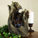 Cascading Caves Waterfall Tabletop Fountain LED Lights by Sunnydaze