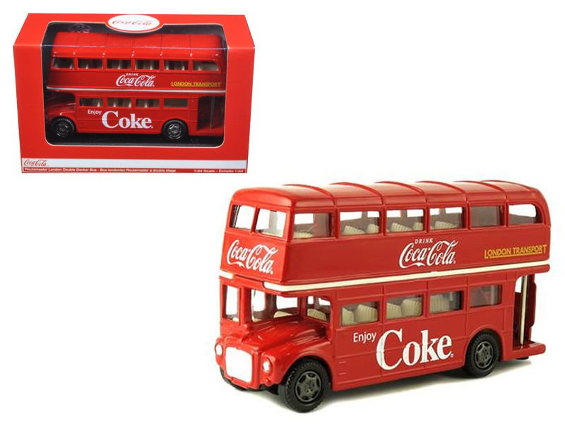 1960 Routemaster London Double Decker Bus Coca-Cola 1/64 Diecast Model