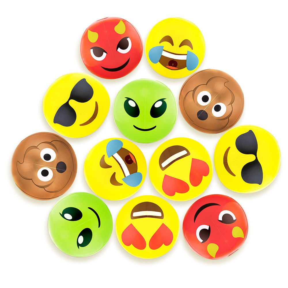 "Beach Gear 12"" Emoji Beach Bums 12-pack"