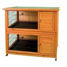 "Ware Premium Plus Double Decker Rabbit Hutch 46"" W x 24""L Fir Wood Waterproof"
