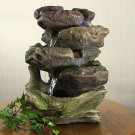 5-Step Rock Falls Tabletop Fountain LED Lights by Sunnydaze