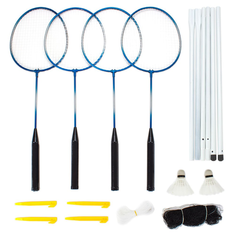 Crown Sporting Goods Complete 4-Player Badminton Set