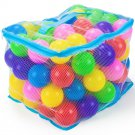 "Imagination Generation 100 Jumbo 3"" Multi-Colored Soft Ball Pit Balls Mesh Case"