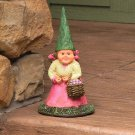 """Isabella the Lady Gnome, 8"""" Tall by Sunnydaze Decor 4.25"""" W x 4.25"""" D x 8"""" H"""