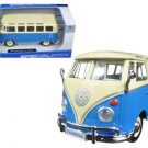 Volkswagen Samba Bus Blue 1/25 Diecast Model Car by Maisto