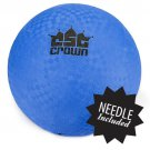 "Crown Sporting Goods Blue Dodge Ball 8.5"" with Needle"