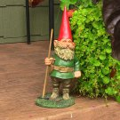 """Woody Jr. the Gnome 13.5"""" Tall by Sunnydaze Decor 6"""" W x 5"""" D x 13.5"""" H"""
