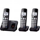Panasonic KX-TGE233B Black Expand Digital Cordless Answering System 3 Handsets