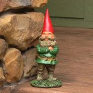 "Timothy the Gnome 9"" Tall by Sunnydaze Decor 3.5"" W 3.5"" D x 9"" H"